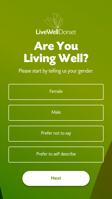 Are you living well screen - start